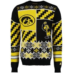 Iowa Hawkeyes Klew Thematic Ugly Sweater - Black - $52.99