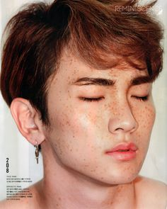 Key - 'Nylon' July Issue *the noise that came out of my mouth was not human*  HE'S GOT FRECKLES MAHGAH!   Key looks fabulous with freckles