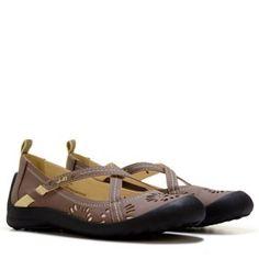 walking shoe cross top strap - tan - J-41 Footwear Women's Anastasia Shoe