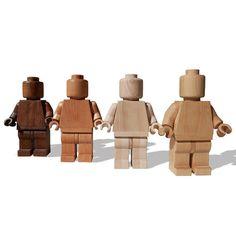 Lego Art Man - Large wood sculpture