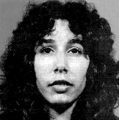 Karla Faye Tucker mugshot, convicted of killing a couple with a pick ax & went to death row, found Jesus in prison, then expected Governor (Bush) to give her a stay of execution. Executed Feb 3rd, 1998, Huntsville, Texas.