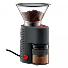 Ask any coffee connoisseurs and they'll tell you that in order for coffee beans to develop their full flavour profile, they must be ground right before coming in contact with hot water. This is where the electric coffee grinder BISTRO comes in and becomes part of the coffee making ritual. #coffee #grinder #bodum #electric #modern #kitchen #home #renovatestore