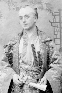 """The Mikado,: Frederick Bovill as Pish-Tush, 1885, original production."