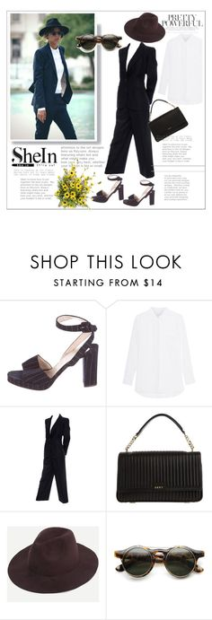 """""""#fedora"""" by katymill ❤ liked on Polyvore featuring Christian Louboutin, Yves Saint Laurent, DKNY and ZeroUV"""