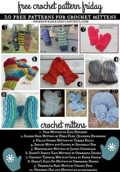 """[Tweet """"Get 20 Free Crochet Patternsfor Mittensthis week!""""] If you have a crochet themeyou would like me to considerfor Free Crochet Pattern Friday, please let me know! All patterns were free at the time they were added to the post. If you visit a link and it has become a """"for sale"""" pattern, please let …"""