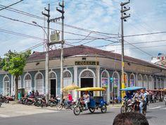 Casa Cohen. Época del Caucho en el Historia de Iquitos, Perú.