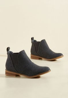 Used Book Browsing Bootie in Charcoal by Rocket Dog - Grey, Solid, Work, Casual, Minimal, Winter, Low, Better, Ankle, Variation, Grey, Neutral