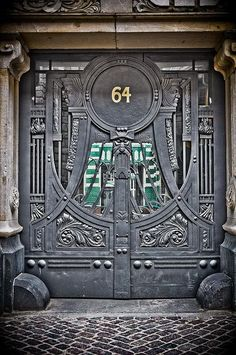 Gothic door in Berlin, Germany
