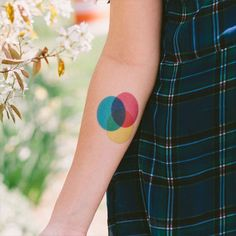 Love this temporary CMYK tattoo.