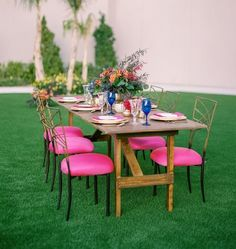Because today's styled shoot is out of Mesa Arizona where the colors are vivid and. Bohemian Wedding Inspiration, Dose Of Colors, Event Styling, Outdoor Furniture Sets, Bohemian Weddings, Modern, Pink, Trendy Tree, Pink Hair