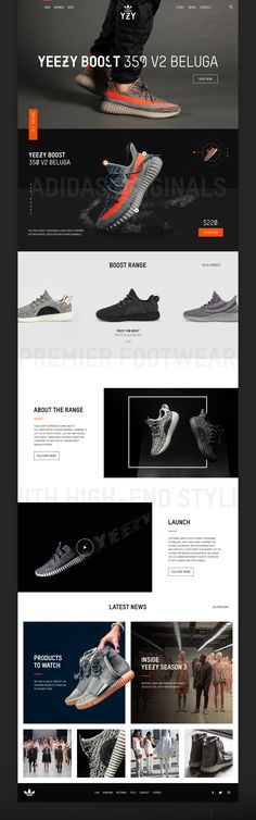 A design concept for the website of the Adidas Yeezy brand