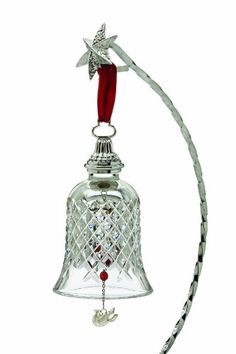 Waterford ® Crystal Twelve Days of Christmas Bell, 2nd Edition, Two Turtle Doves, Alana Pattern