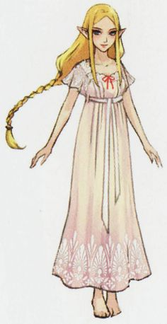 Hyrule Warriors Zelda in her sleepwear