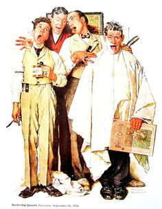 Norma Rockwell Print Barbershop Quartet by mysunshinevintage, $10.00