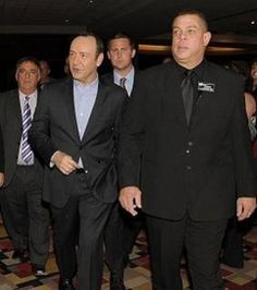 Kevin Spacey and Bodyguard Big Rob