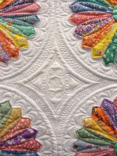 quilt, Inspired by Alice, Marilyn Lidstom Larson, detail of maching quilting