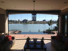 Patio enclosure, Frameless stacking doors Stacking Doors, Patio Enclosures, Glass Facades, Door Wall, Sliding Glass Door, Home Projects, Outdoor Decor, Home Decor, Decoration Home