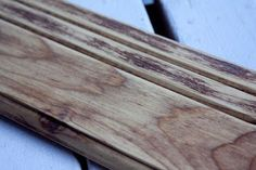 How to make new wood look weathered with baking soda and vinegar.