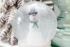 Welcome to day 6 of 12 Days of Christmas Ornaments! Today I want to share a Snow Globe that Kate and I made. It's not really an ornament so to speak, but I think it's close enough!