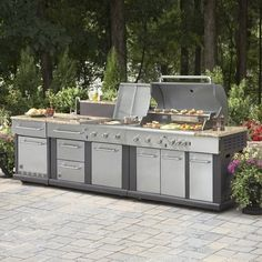 Now this is what I call out-door cooking!!  Master Forge Modular Outdoor Kitchen Set at Lowe's Canada