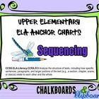 ELA Anchor Chart for Upper Elementary Classroom for teaching Sequencing. Recommended for use with Interactive Whiteboard Projection Systems (presen...