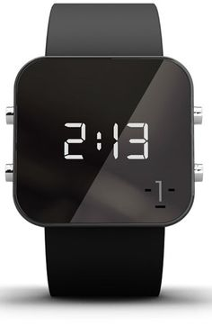 1:Facewatch+1:Face+'Hunger'+Square+Digital+Silicone+Strap+Watch,+38mm+available+at+#Nordstrom
