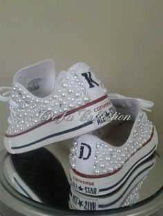 Check out this item in my Etsy shop https://www.etsy.com/listing/269720981/pearl-conversecustom-converse-womens