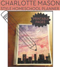 FREE Charlotte Mason Style Homeschool Planner