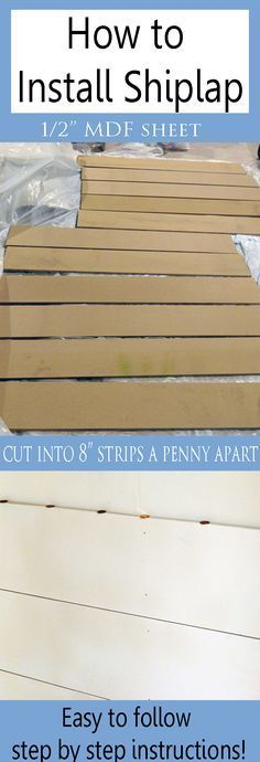 Shiplap is all the rage and is so easy and inexpensive to do!  Come learn how to install shiplap with this step by step tutorial at Provident ?Home Design.