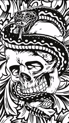 Art Goth, Gothic Art, Art And Illustration, Wallpaper Iphone Cute, Wallpaper Backgrounds, Dark Fantasy, Evil Skull Tattoo, Punk Decor, Ninja Art