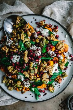 Vegetarian Recipes, Cooking Recipes, Healthy Recipes, Warm Salad Recipes, Roast Pumpkin Salad, Pumpkin Chocolate Chip Muffins, Pumpkin Waffles, Clean Eating, Healthy Eating