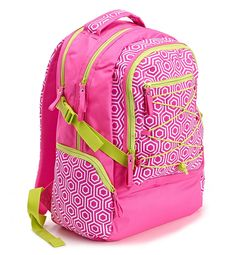 "Bright This Way Backpack by Studio C.  Do the ""bright"" thing and add a fun pop of color to your back-to-school style!  Limited quantities of this backpack from the Studio C Bright this Way collection.   #backtoschool #backpack #pink"