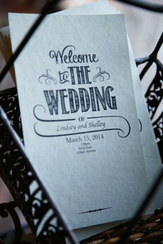 """Welcome to the Wedding"" programs are perfect touch 