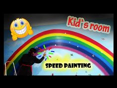I just finished the painting of a mural that you have never seen before! This includes a large rainbow over an entire wall in an adorable twin's room. Speed Paint, Mural Art, Acrylic Colors, Disney Style, Children, Kids, Art Projects, Rainbow, Art Prints