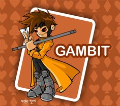 Gambit cartoon by ~Guga-kun on deviantART