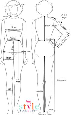 measurement guide - wardrobe styling