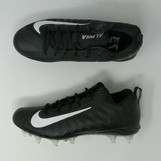 outlet store b24f3 44794 Nike Alpha Menace Pro Low TD WD PF Black Wide Football Cleats 921730-010  Football