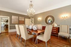 This San Francisco dining room is bathed in neutrals & warmth - just add friends and food!