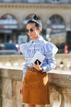 Street Style of Paris: YoYo in Miu Miu Blouse!