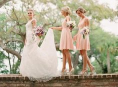 Trendy Bridesmaid Styles: Classic Peach Bridesmaid Dresses | Bridesmaid Dresses | Evening Dresses, Formal Dresses, Cocktail Dresses- Style Tips  Clothing Trends