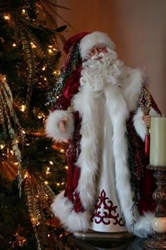 Handmade original and reproduction Santa Dolls & Christmas Decor. Old World Christmas, Christmas Past, Victorian Christmas, Father Christmas, Winter Christmas, Vintage Christmas, Santa Claus Figure, Santa Clause, Adornos Halloween