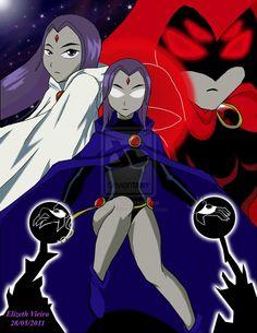 Teen Titans-Raven, daughter of Trigon Old Teen Titans, Raven Teen Titans Go, Original Teen Titans, Univers Marvel, Warner Bros Pictures, Cartoon Network, Disney Pixar, Raven Cosplay, Beast Boy