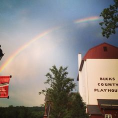 "Rainbow over the Bucks County Playhouse captured by @jconn_roxx on Instagram as part of our ""Capture Your #BucksCounty Moment"" photo contest."