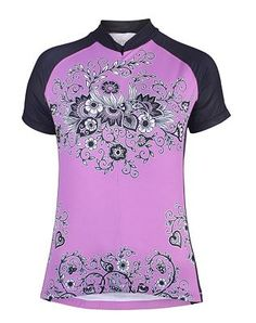 Elemental Tree Short Slv Tri-pocket Jersey-purple - Womens Cycling Tops and Sports Clothes