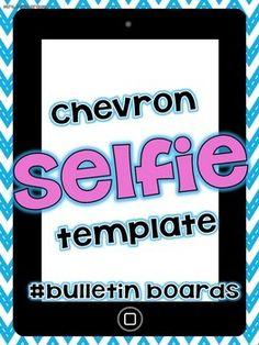 "FREE Chevron ""Selfie"" Bulletin Board for self portraits"