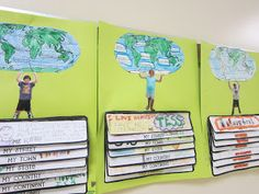 Great idea for first week of school/teaching map skills and continents.