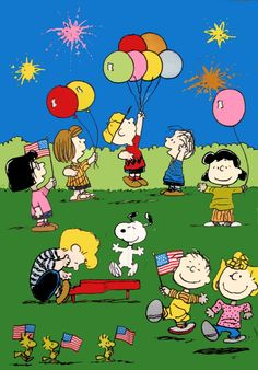 Peanuts Gang 4th Of July