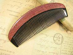 Amarant Holz und Buffalo Horn Hair Care Kamm von epstone auf Etsy