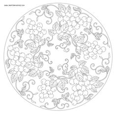 Adult coloring page - berries Pottery Painting, Dot Painting, Ceramic Painting, Painting Patterns, Mandala Coloring, Colouring Pages, Coloring Books, Adult Coloring, Islamic Patterns