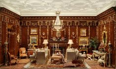 Special+Wood+Paneled+Jacobean+Room+-+$7,500.00+:+Ron+Hubble,+Miniature+Room+Boxes